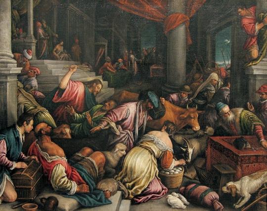 jesus-chasse-les-marchands-du-temple---leandro-bassano