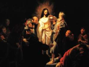 t_Chr - Christ shows his wound by Rembrandt